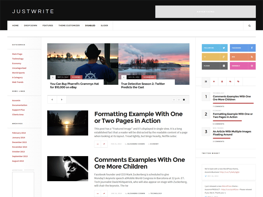 WordPressテーマ「JustWrite」の投稿日を正常化